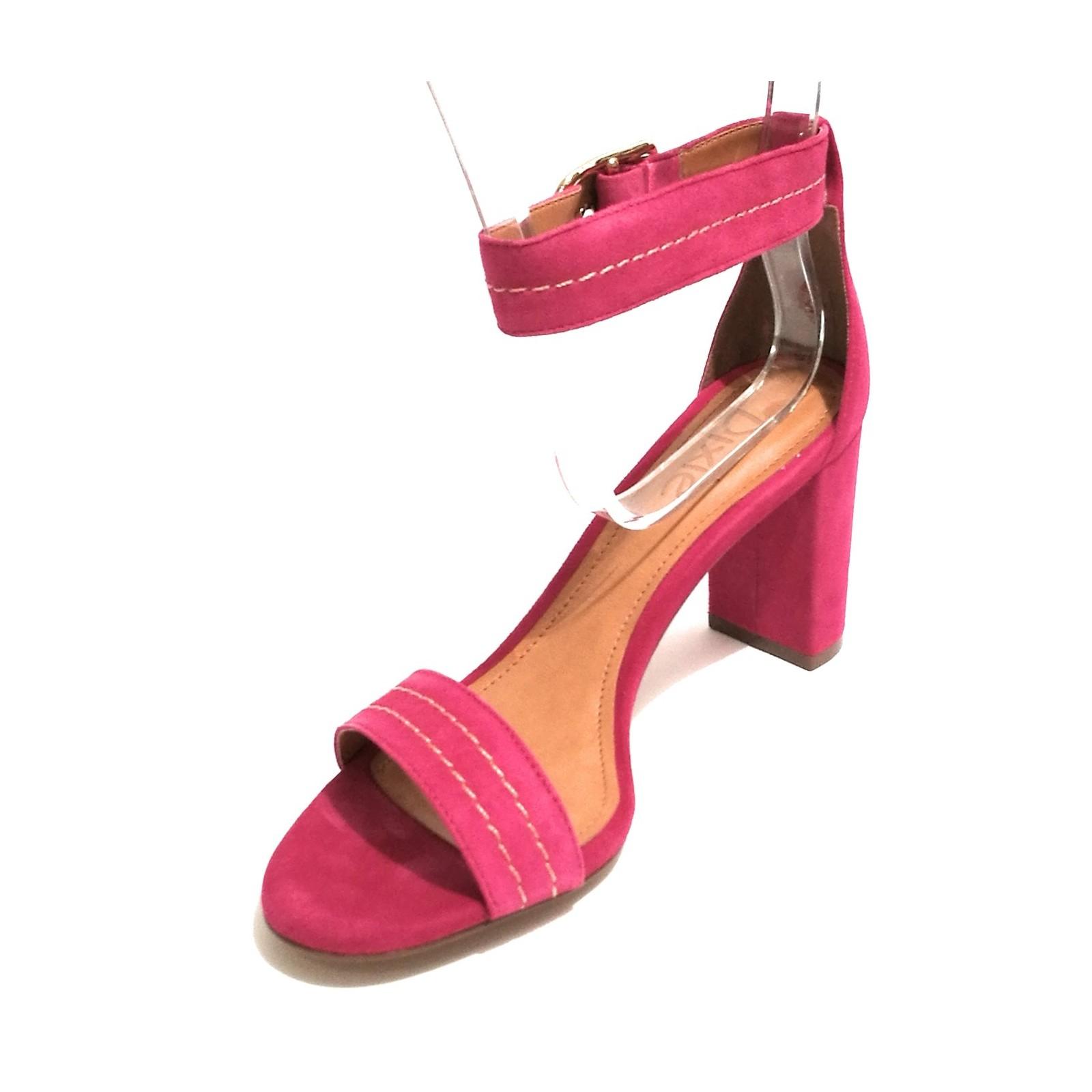 Donna Scamosciata Dixie Tc Sandalo Con Col 70 Tacco Pelle Scarpe qUwdC84q