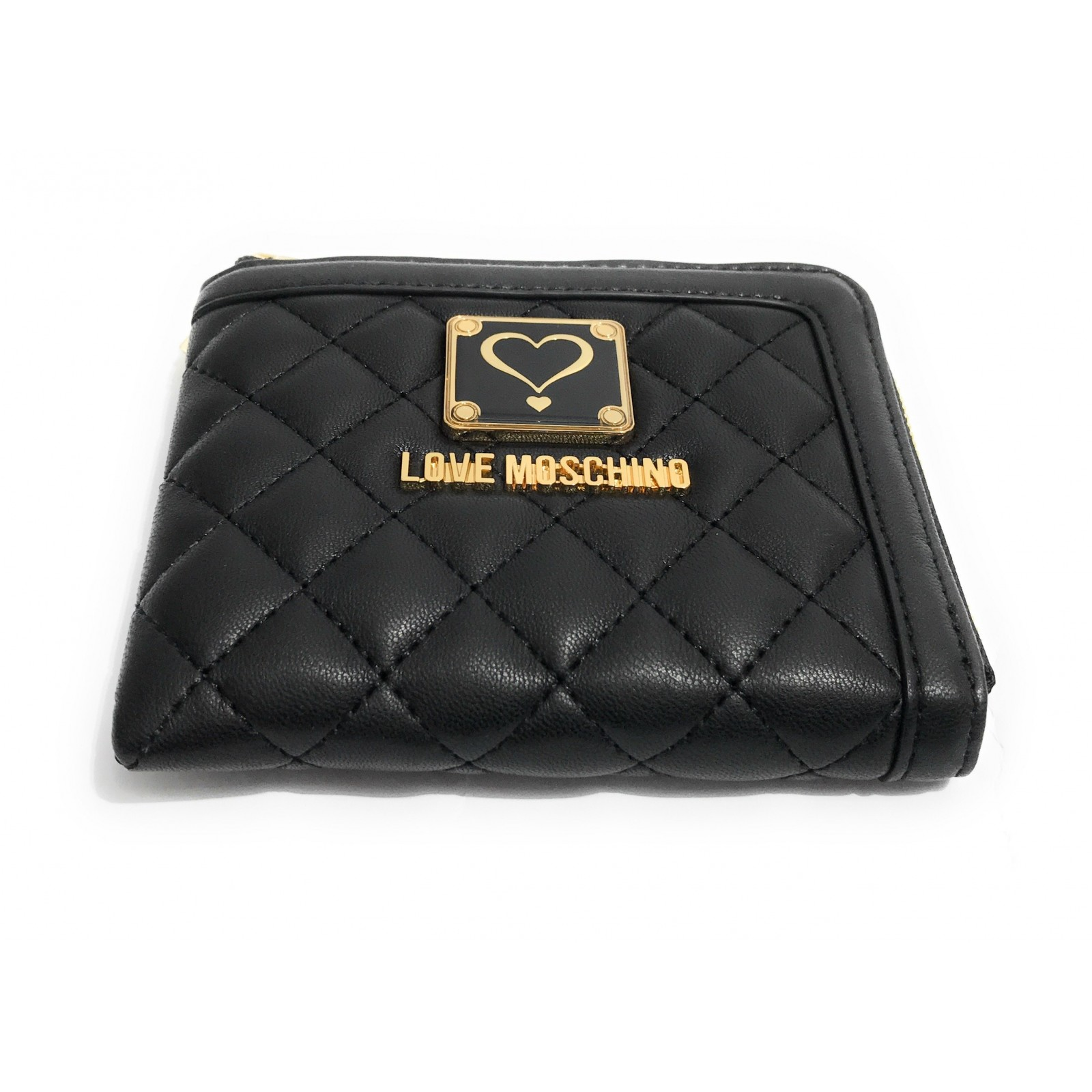 d988fed8d4 ... PORTAFOGLIO DONNA LOVE MOSCHINO NAPPA TRAPUNTATO ZIP AROUND SMALL NERO  AS17MO28. Previous