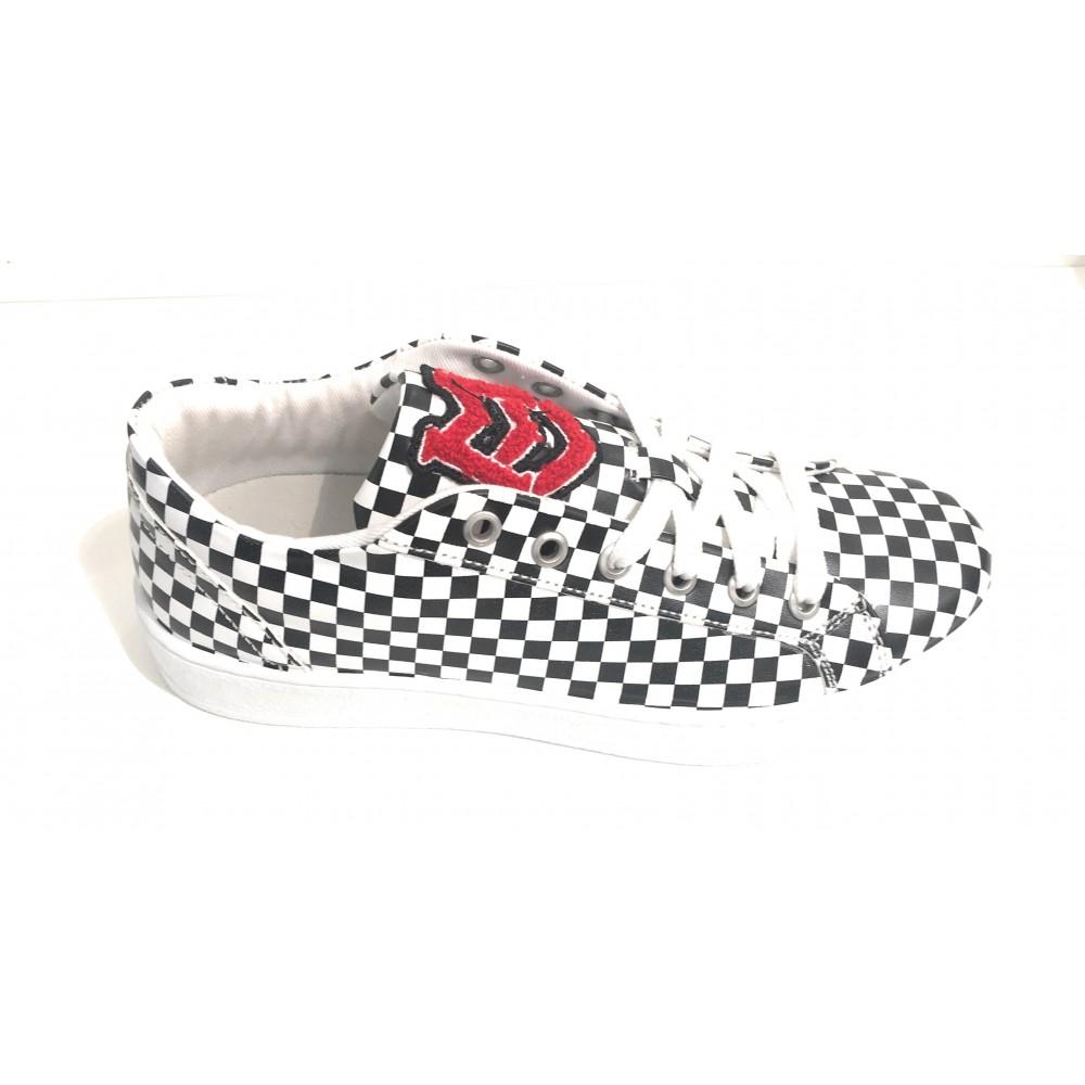 sale retailer 368a2 42f37 SCARPE UOMO / DONNA MOSCHINO LOVE SNEAKER WHITE BLACK CHEK S15MO01