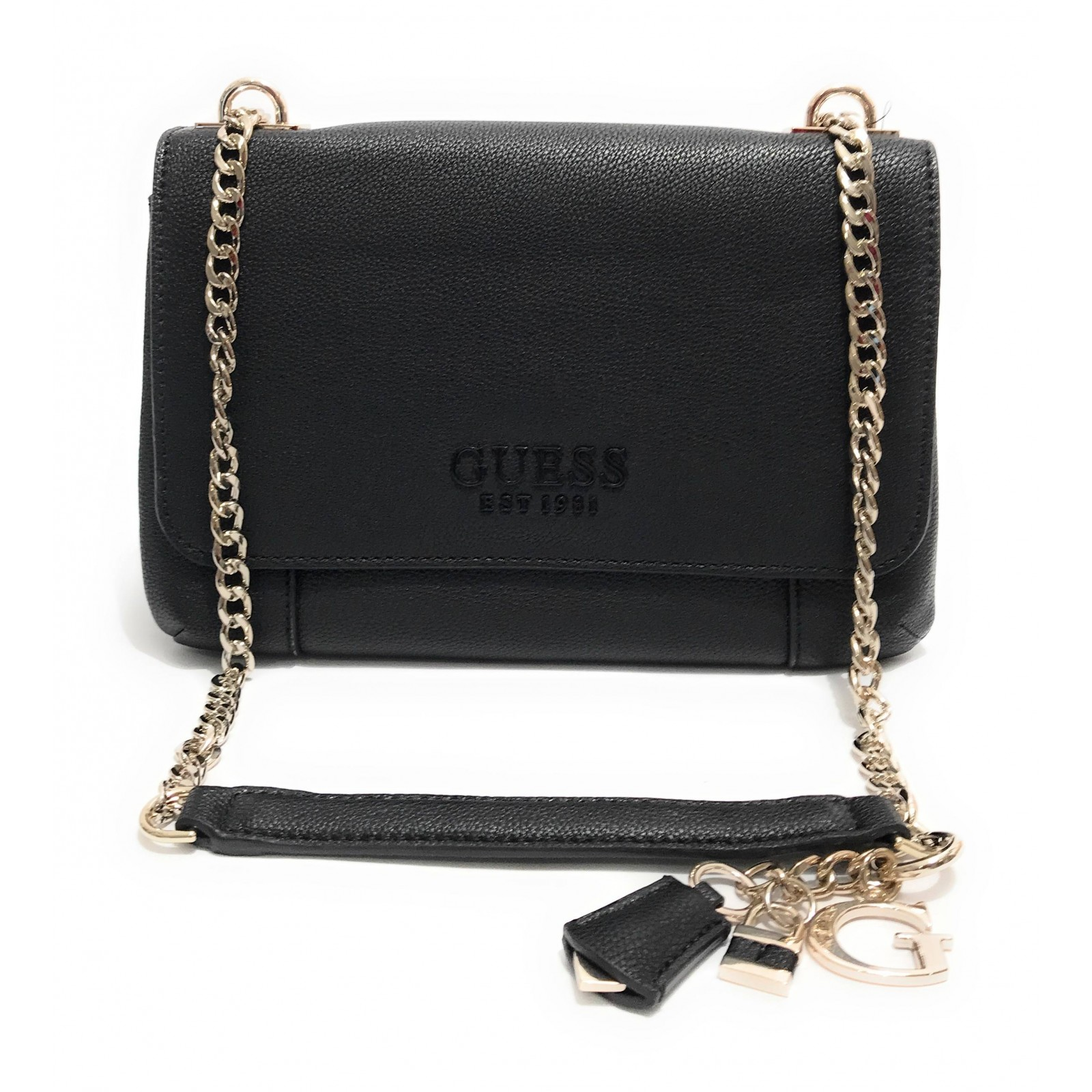 Borsa Guess tracolla Holly 2 comparti in ecopelle nero BS20GU87 Dimensioni borsa PICCOLA