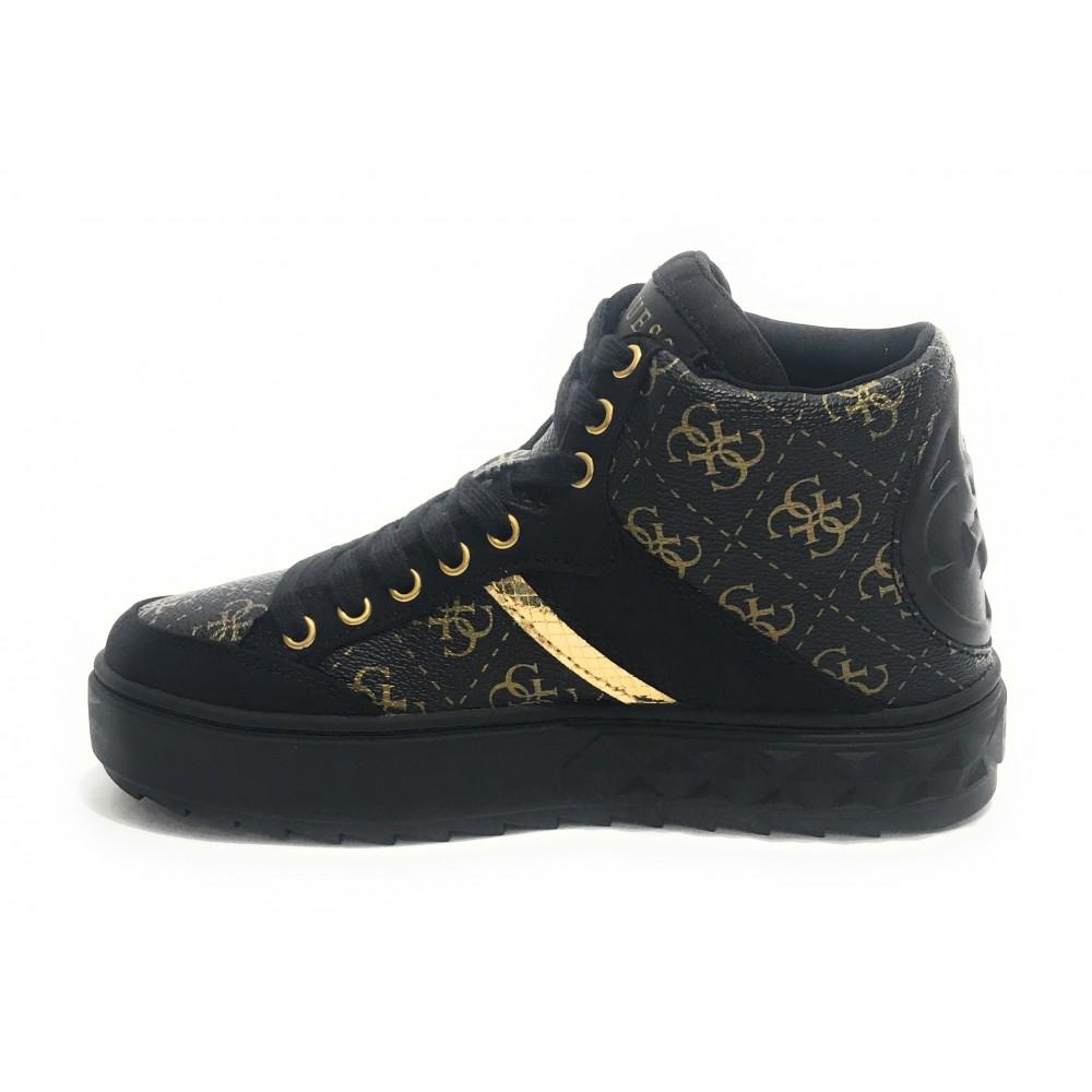Scarpe donna Guess sneaker alto mod Fixin in ecopelle logata