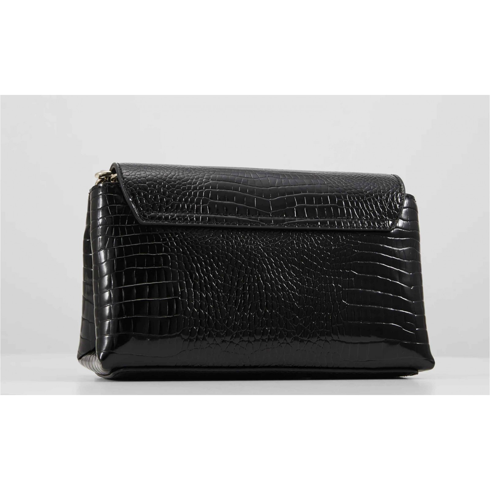 Borsa tracolla Guess Uptown Chic mini xbody flap ecopelle stampa cocco black BS20GU189