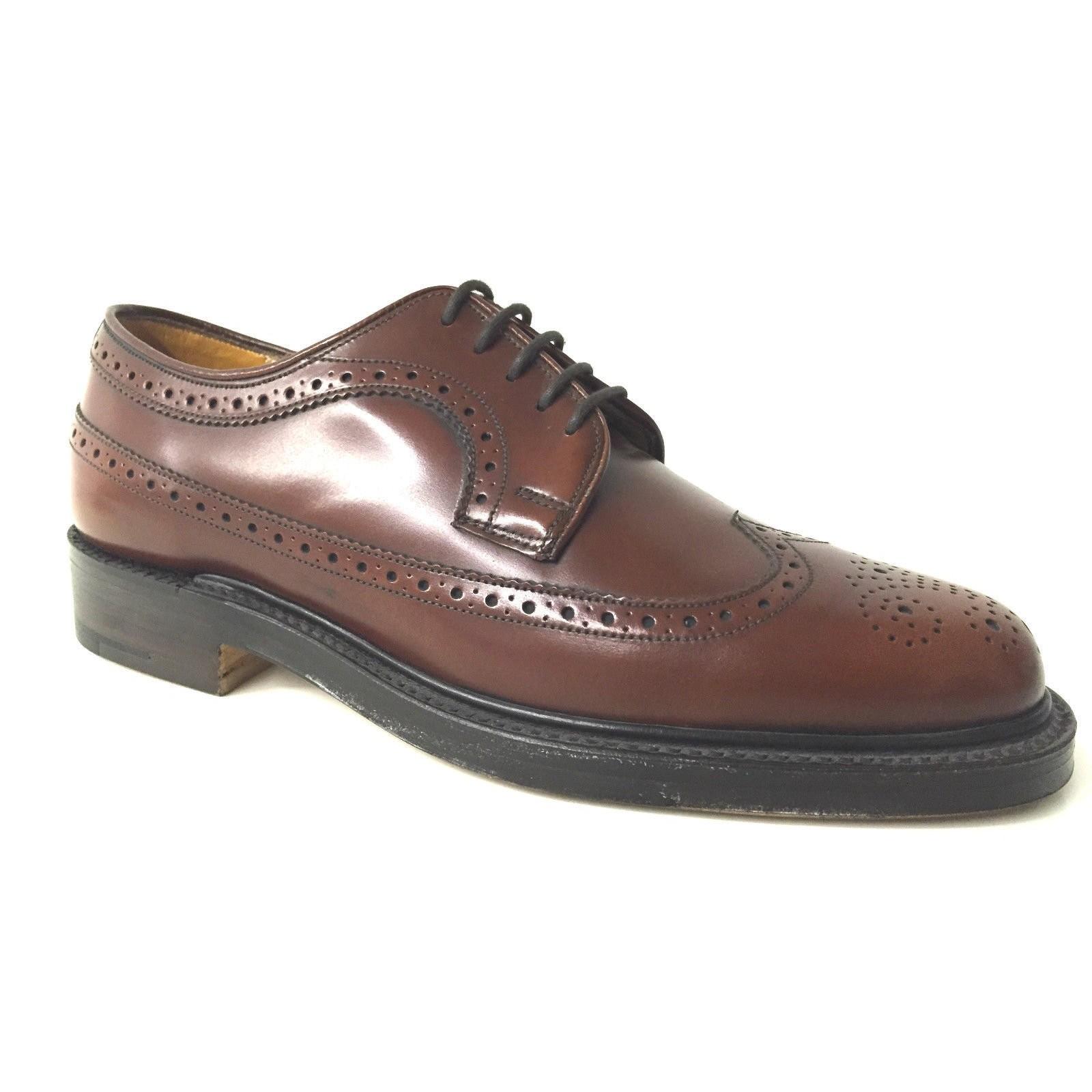 hot sale online c93ab a3b42 Dettagli su SCARPE UOMO GRENSON DERBY ALLACCIATO IN PELLE MARRONE COGNAC  FATTA A MANO Taglia scarpa 40it - 6UK